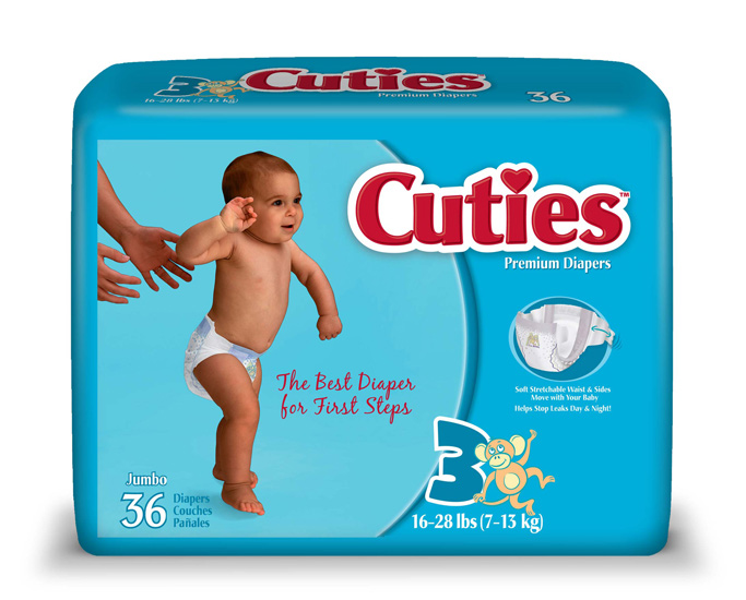 Baby Diaper Cuties® Size 3 - Unsex - Child