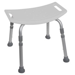 Deluxe Aluminum Shower Bench without Back - DME