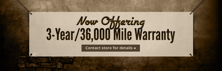 Hollywood Motors offers a 3-year/36,000 mile warranty! Click here to contact us.