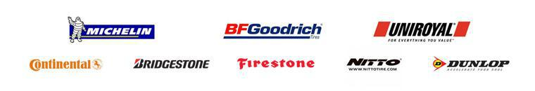 We proudly carry Michelin®, BFGoodrich®, Uniroyal®, Continental, Bridgestone, Firestone, Nitto, and Dunlop.