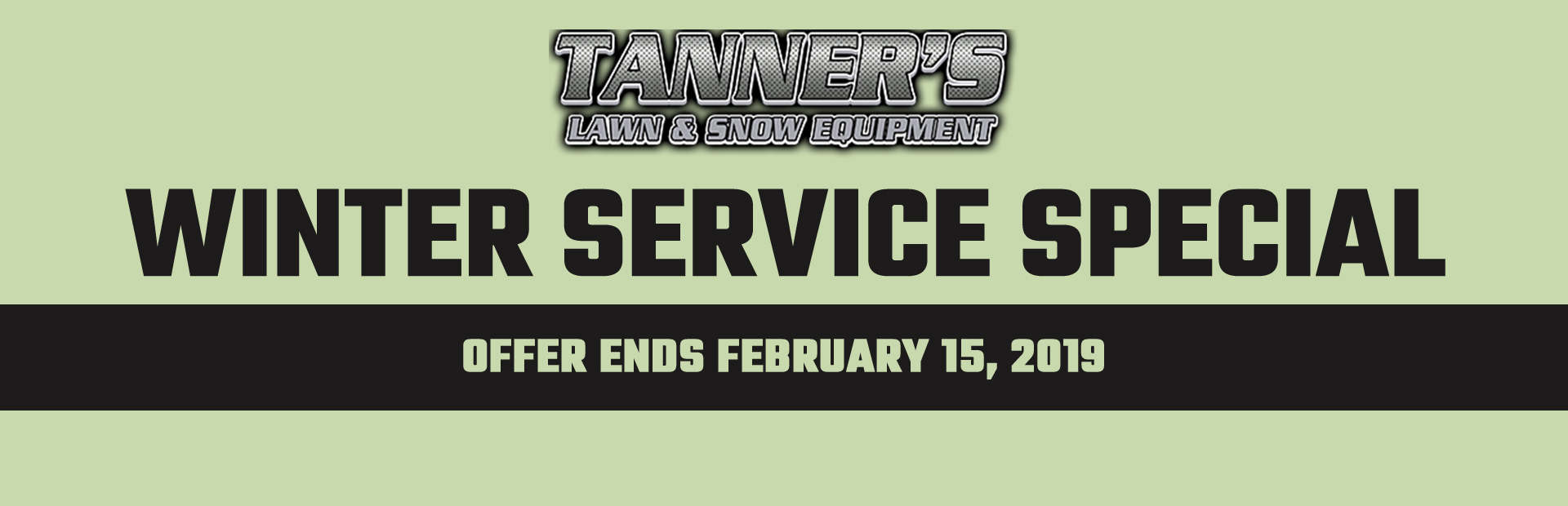 Winter Service Special: Offer ends February 15, 2019. Click here for details.