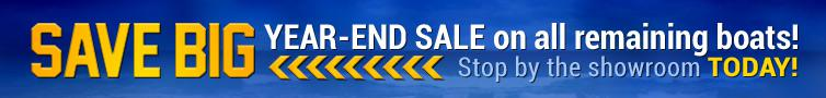 Save big at our year-end sale on all remaining boats! Stop by the showroom today!
