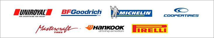 We proudly offer products from: Uniroyal, BFGoodrich, Michelin, Cooper, Mastercraft, Hankook and Pirelli