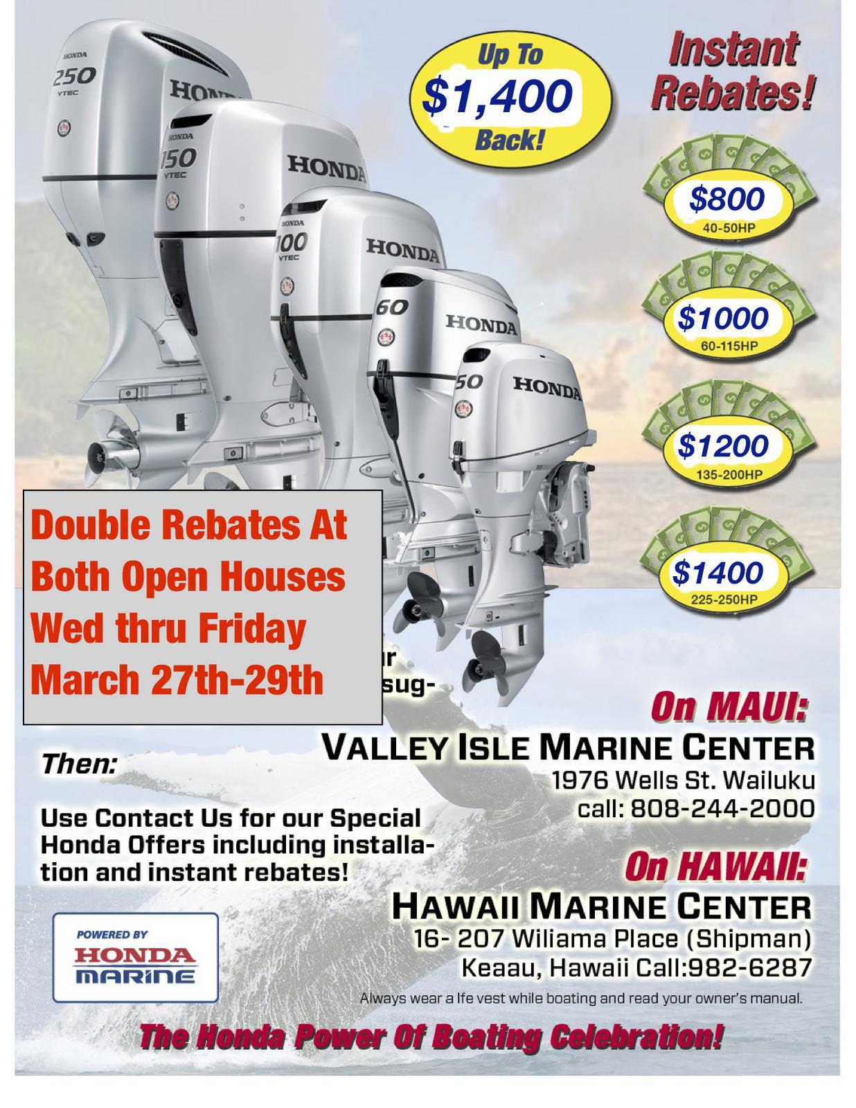 Honda Double Rebate Page