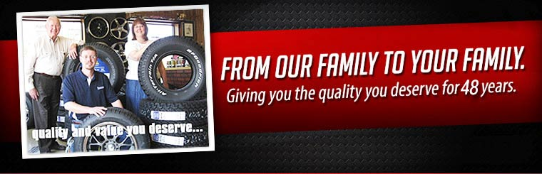 Blue Ridge Tire: Giving you the quality you deserve for 48 years.