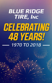 Blue Ridge Tire, Inc. Celebrating 48 years! 1970-2018.