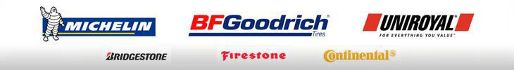 We proudly carry products from Michelin®, BFGoodrich®, Uniroyal®, Bridgestone, Firestone, and Continental.