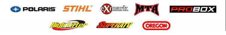 We proudly offer products from Polaris, STIHL, Exmark, MTA, ProBox, Highlifter, SuperATV, and Oregon.