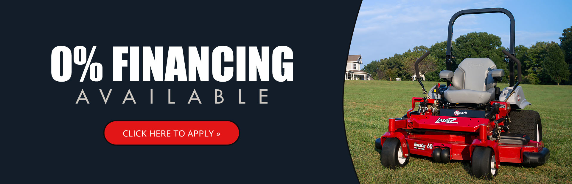 0% financing is available! Click here to apply.