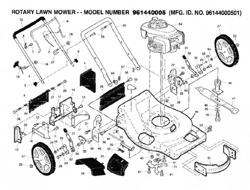Black Max Lawn Mower Parts For Model 961440005 01 For Sale In