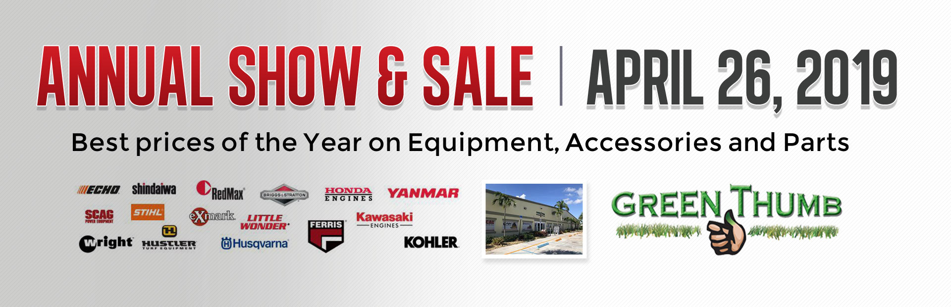 Annual show & sale: Best prices of the year on equipment, accessories and parts