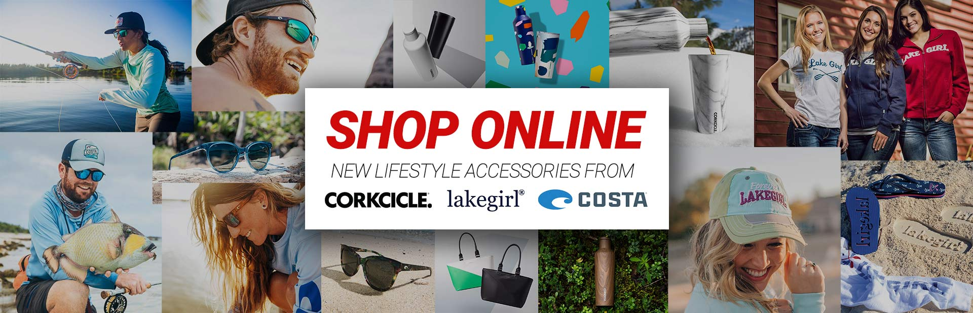 Shop Online Lifestyle Accessories from Corkcicle, Lakegirl, and Costa