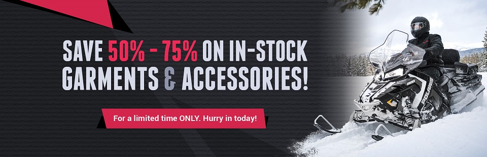 For a limited time only, save 50% to 75% on in-stock garments and accessories!