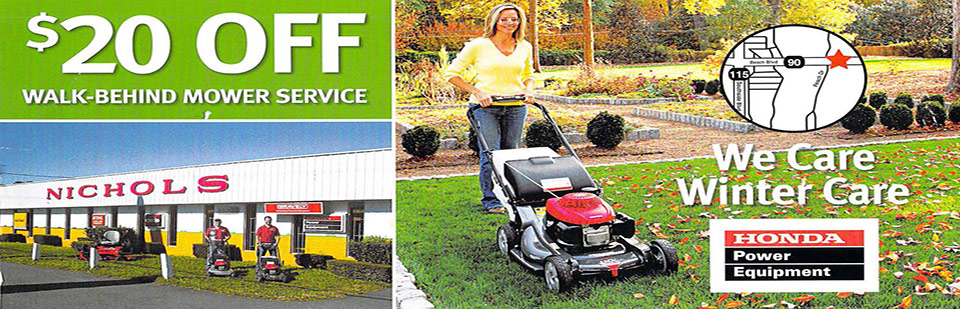 $20 Off Walk Behind Mower Service