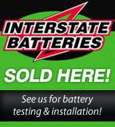Interstate Batteries are sold here!