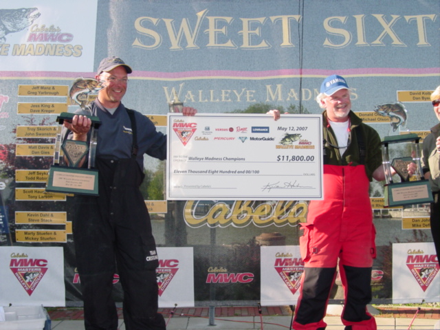 Koester & Rhodes Walleye Madness Champions