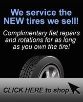 We service the new tires we sell!