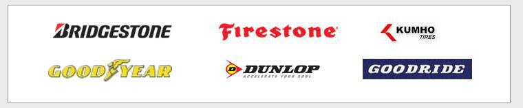 We proudly carry Bridgestone, Firestone, Kumho, Goodyear, Dunlop, and Goodride.