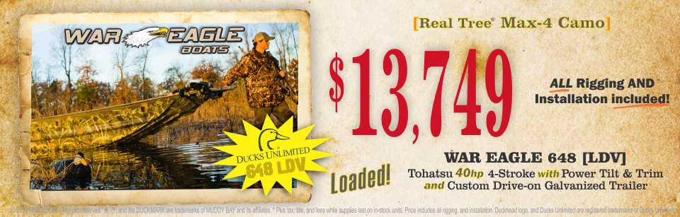 Ducks Unlimited War Eagle Summer Sales Event $$$