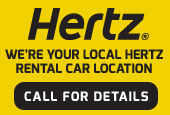 We're your local Hertz Rental Car Location. Call for Details.