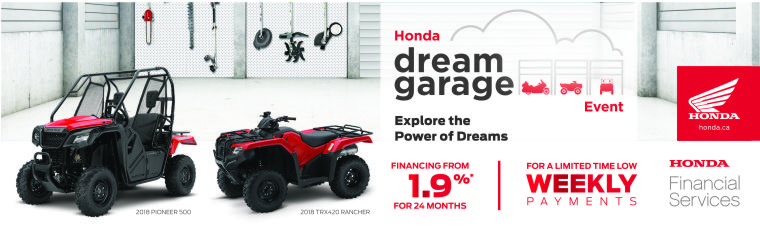 Honda Dream Garage ATV SXS
