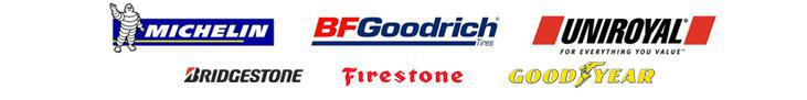 We carry products from Michelin®, BFGoodrich®, Uniroyal®, Bridgestone, Firestone, and Goodyear.