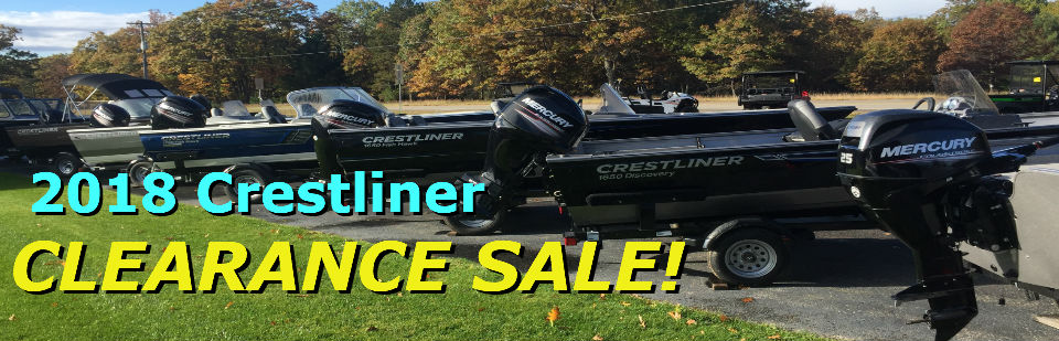 2018 Crestliner Clearance Sale on all in-stock packages.