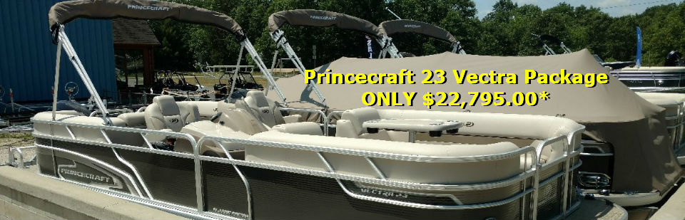 Princecraft pontoons on sale now at Pioneer Hills Marine.