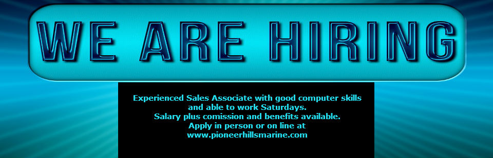 Sales associate position available for experienced sales with good computer skills.