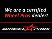 We are a certified Wheel Pros dealer!