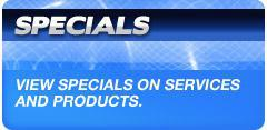 View specials on services and products.