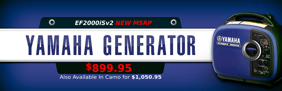Yamaha Generators New MSRP EF2000iS