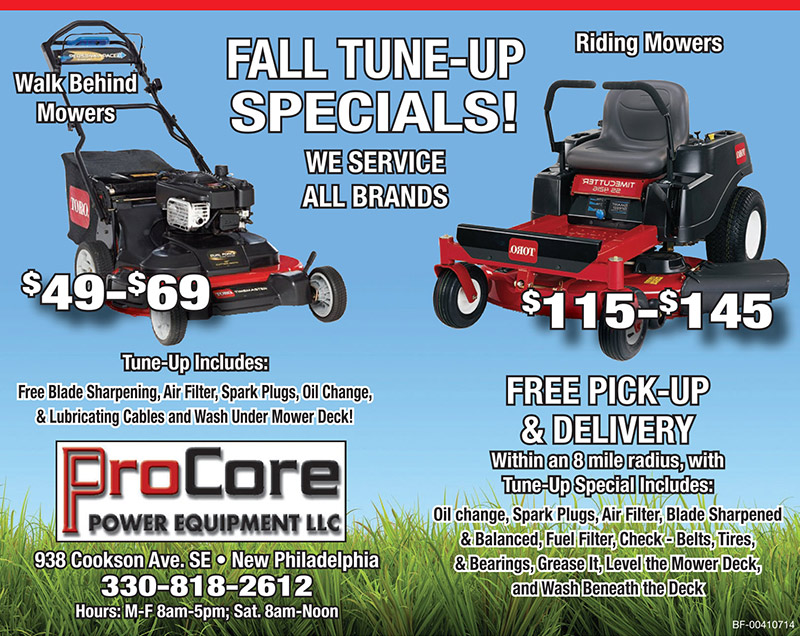 Fall Tune-Up Specials. We service all brands.