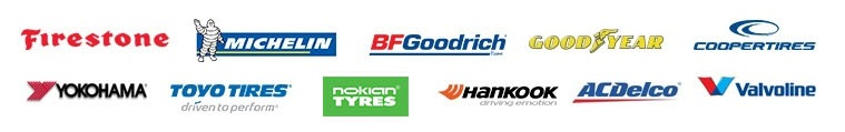 We proudly carry products from Firestone, Michelin, BFGoodrich, GoodYear, Cooper Tires, Yokohama, Toyo tires, Nokian Tyres, Hankook, ACDelco and valvoline