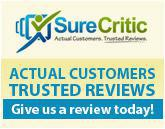 Sure Critic: Actual customers trusted reviews. Give us a review today!