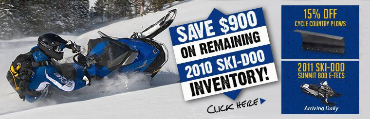 Save $900 on remaining 2010 Ski-Doo inventory!