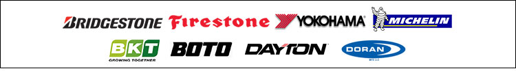We carry products form Bridgestone, Firestone, Yokohama, Michelin®, Dayton, Doran,Boto and Marathon-RL.