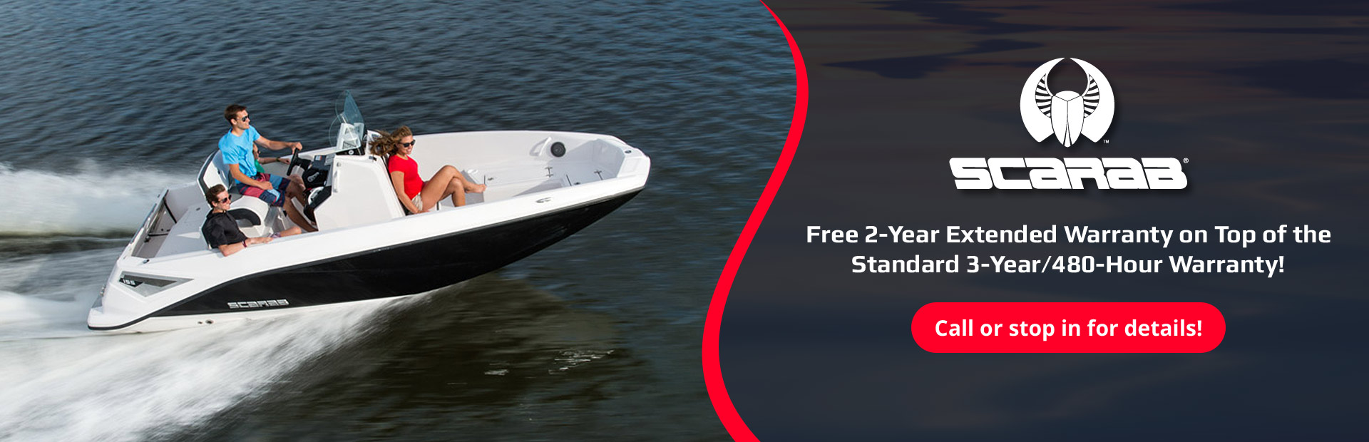 Scarab Extended Warranty Offer: Get a free 2-year extended warranty on top of the standard 3-year/480-hour warranty! Call or stop in for details!