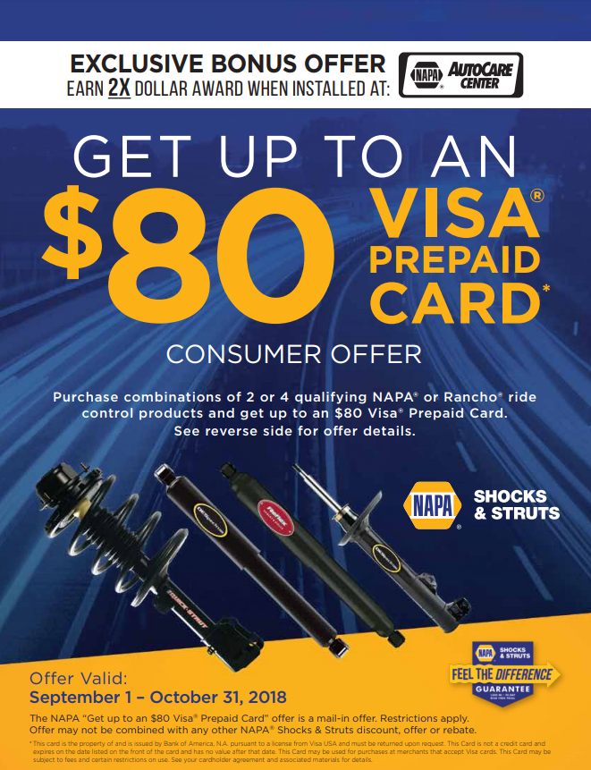Napa Shocktober Rebate Flyer