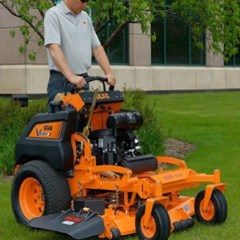 Man using a Scag Stand on mower