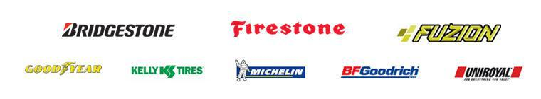 We proudly offer products from: Bridgestone, Firestone, Fuzion, Goodyear, Kelly, Michelin®, BFGoodrich®, and Uniroyal®.