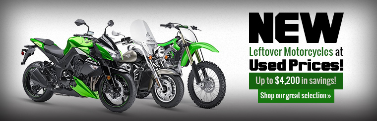 Get new leftover motorcycles at used prices, and save up to $4,200! Click here to shop our selection.