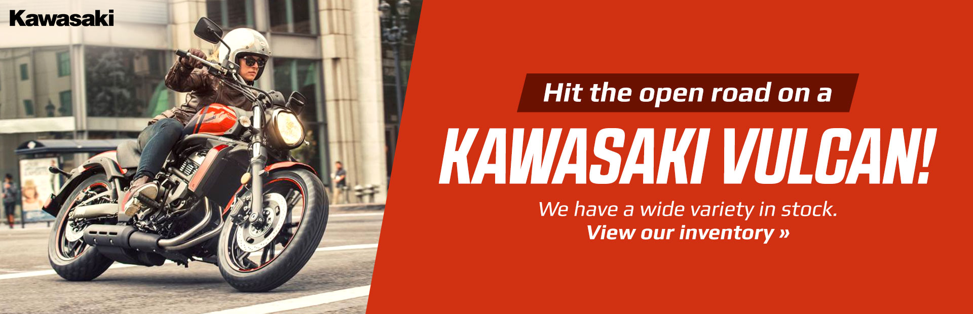Hit the open road on a Kawasaki Vulcan!
