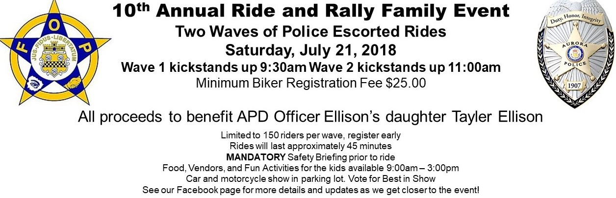 10th Annual Ride and Rally Family Event