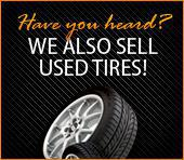 We also sell used tires!