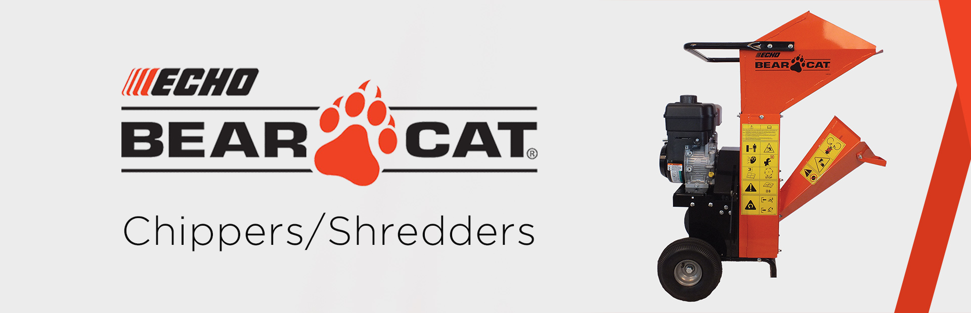 ECHO Bear Cat Chippers/Shredders: Click here to view the models.