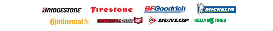 We carry products from Bridgestone, Firestone, BFGoodrich®, Michelin®, Continental, General Tire, Dunlop, and Kelly.