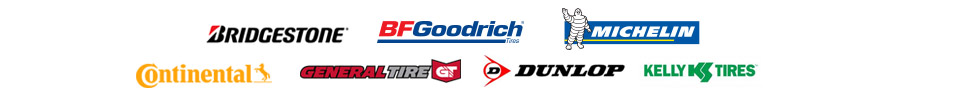 We carry products from Bridgestone, BFGoodrich®, Michelin®, Continental, General Tire, Dunlop, and Kelly.