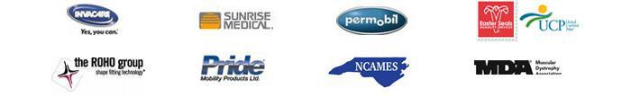We carry products from Invacare, Sunrise Medical, Permobil, Easter Seals, UCP, The ROHO Group, Pride, NCAMES, and MDA.