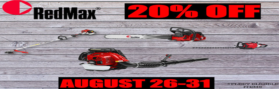 RedMax 20% Off August 26-31